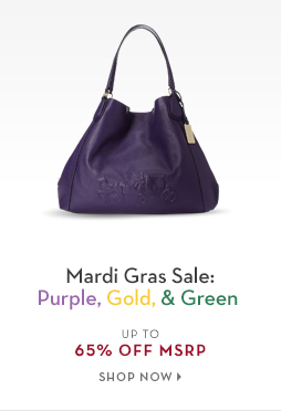 2/9 - TREND: Purple, Gold, & Green Women's