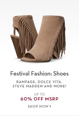 2/10 - TREND: BOHO Festival Shoes