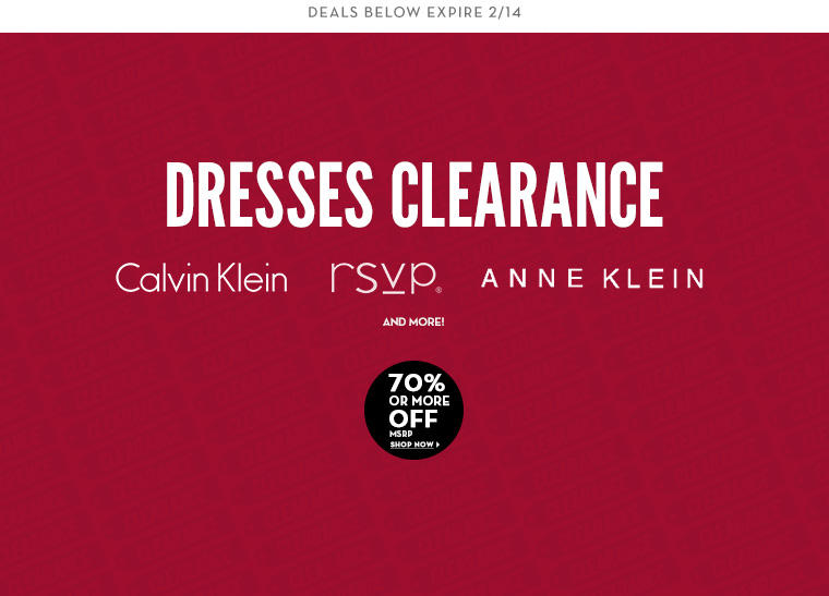 2/11 - Dresses Clearance