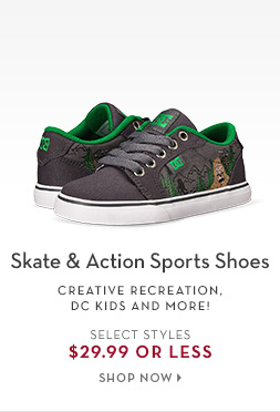 2/11 - Street/Action Shoes starting at $29.99
