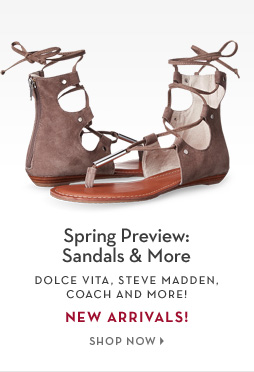 2/14 - Spring Preview: Sandals & More
