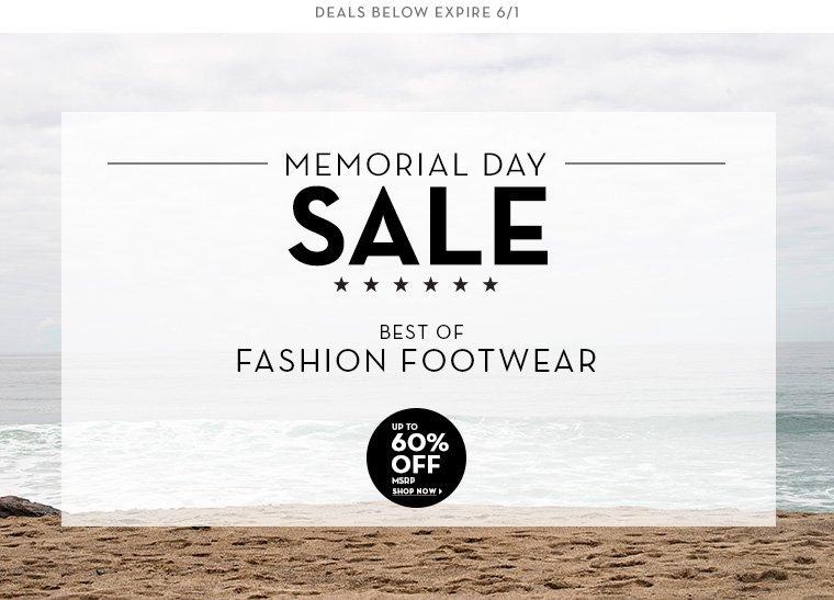 A 5/30 - MEMORIAL DAY SALE: Fashion Footwear