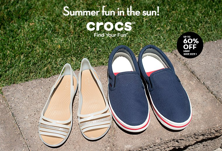 A 6/30 - Crocs Up to 60% Off MSRP