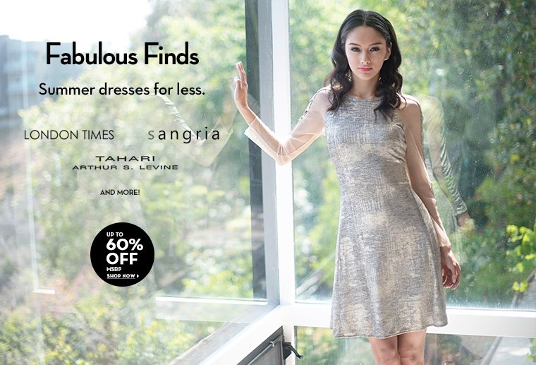 A 6/30 - Fab Finds: Dresses 60% or more off MSRP