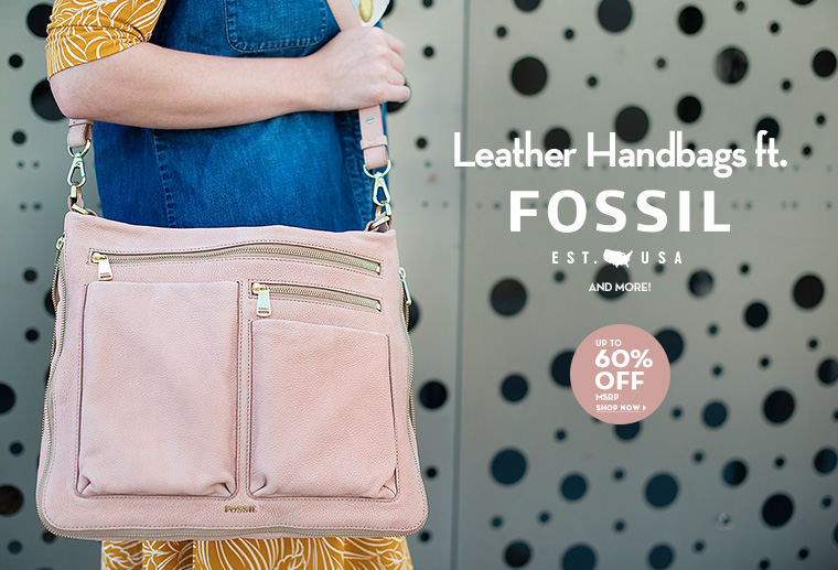 A 9/26 - Shop Leather Handbags ft. Fossil