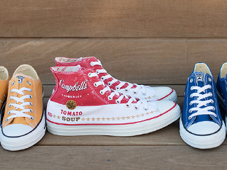 A 12/2 - Converse Campbell's Soup Sneakers And Yellow And Blue Sneakers