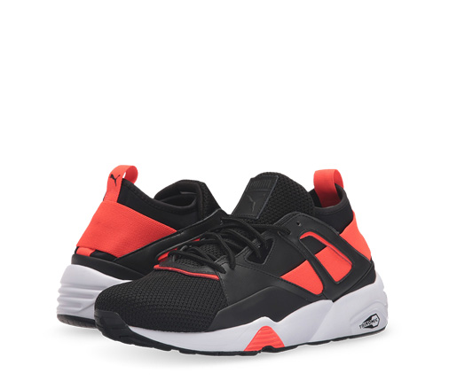 B 12/2 - Puma Black And Red Sneakers