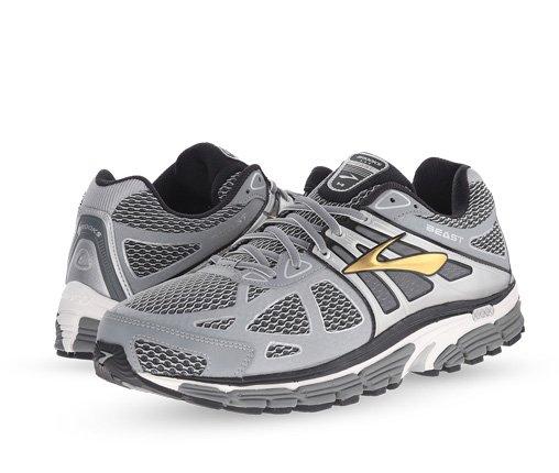 B 12/3 - Brooks Silver, Black & Gold Running Sneaker