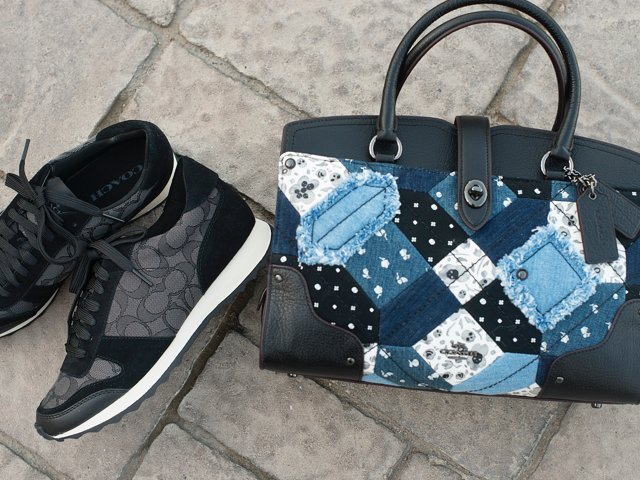 A 12/9 - COACH Logo Sneakers And COACH Handbag