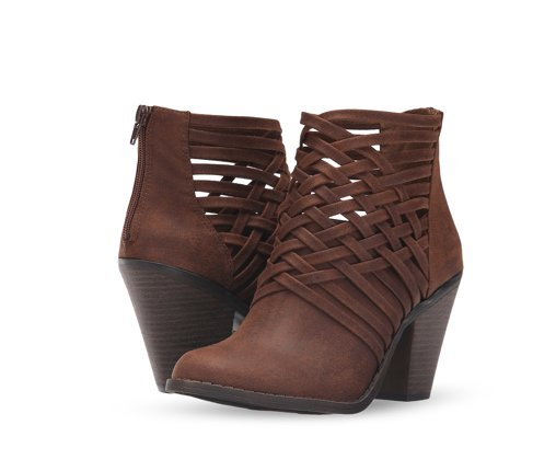 B 12/8 - Fergalicious Heeled Brown Booties