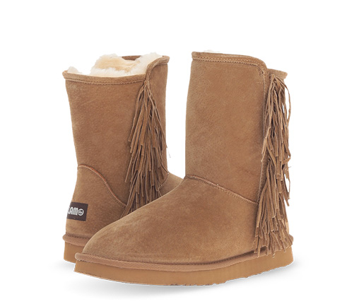 B 12/10 - Chestnut Lamo Boot With Fringe