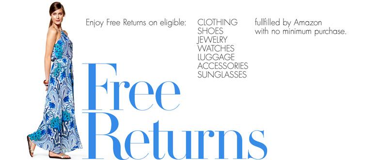 amazon free returns