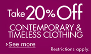 20% Off Contemporary & Timeless