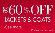 Up to 60% Off Jackets & Coats