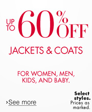 Up to 60% Off Outerwear