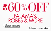 Up to 60% Off Sleepwear