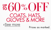 60% Off Cold Weather Clothing