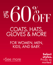 Up to 60% Off Cold Weather Clothing