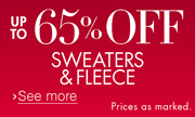 Up to 65% Off Sweaters & Fleece