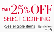Take 25% Off Dresses, Denim, & Sport Coats