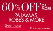60% Off or More Sleepwear