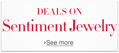 Deals on Sentiment Jewelry