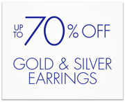 Up to 70% Off Gold & Silver Earrings