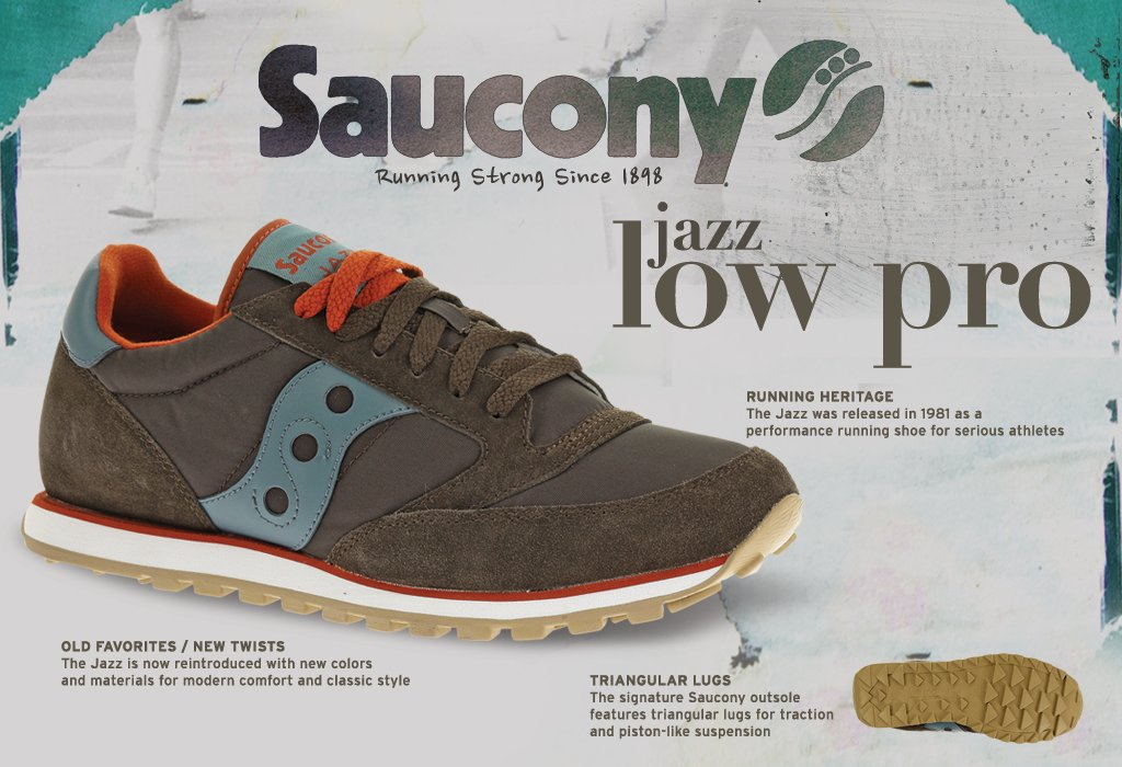 Saucony Jazz Lowpro Running Men's Shoes Size
