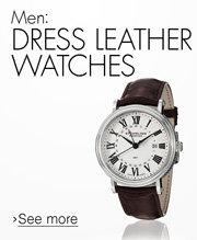 Men: Dress Leather Watches