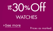 Up to 30% Off Watches