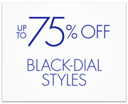 Up to 75% Off Black-Dial Styles