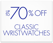 Up to 70% Off Classic Wristwatches