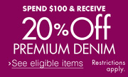20% Off $100 Premium Denim