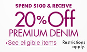 Spend $100 & Receive 20% Off Premium Denim