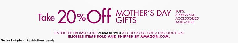 精选时尚女装母亲节促销, 折扣可享20% off - 第1张  | 淘她喜欢