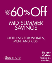 Up to 60% Off Midsummer Sale