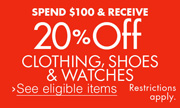 20% Off $100 Women's Fashion