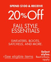 20% Off $100 Clothing, Shoes and More