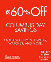 Columbus Day Savings