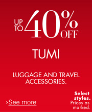 40% Off Tumi T-Tech
