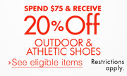 20% Off Outdoor & Athletic Shoes