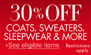 30% Off Clothing