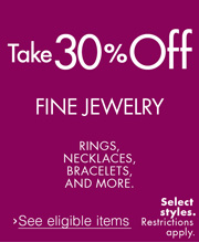 Take 30% off Fine Jewelry