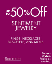 Up to 50% Off Sentiment Jewelry