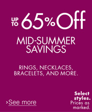 Up to 65% Off Jewelry