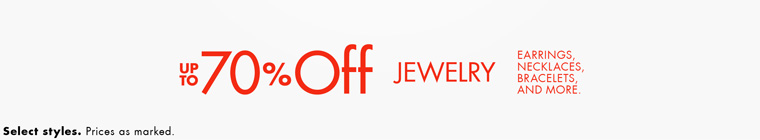 JEWELRY - UP to 70% Off: