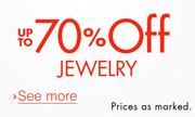 Up to 70% Off Jewelry