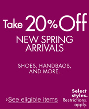 20% Off Shoes and Handbags