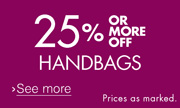 Handbags Savings