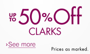 Up to 50% Off Clarks